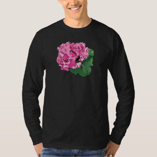 Small Cluster of Pink Geraniums T-Shirt