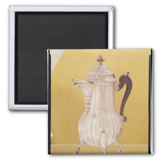 Small coffee pot square magnet