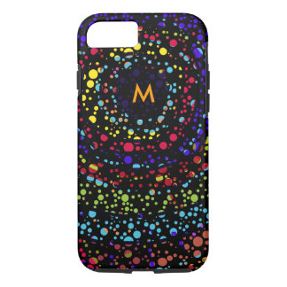 small color dots on black iPhone 7 case