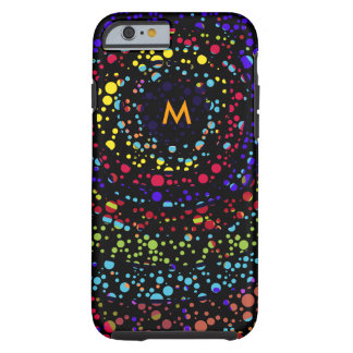 small color dots on black tough iPhone 6 case