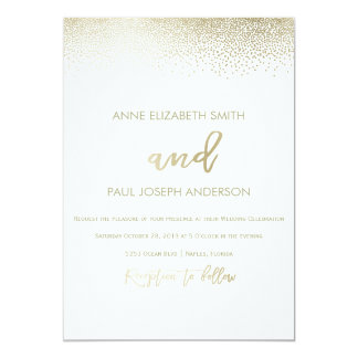 Small Confetti Wedding Invitation