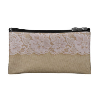 Small Cosmetic burlap sack Bag Makeup Bags