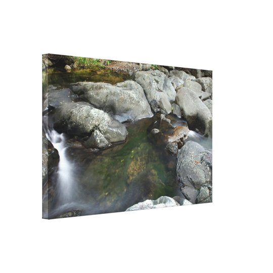 Small Creek and Rocks Queensland Australia Canvas Print