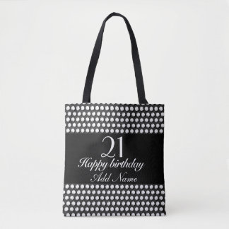 Small crystal sequins tote bag