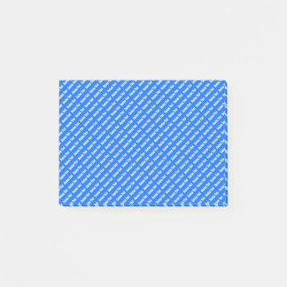 Small Custom Text | Blue Post-it Notes