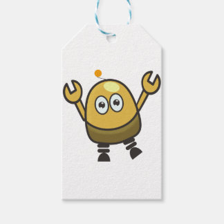 Small cute baby robot pack of gift tags