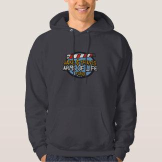 Small Dark Gray Arms of life Hooded Sweatshirt