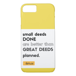 Small Deeds Done iPhone Case
