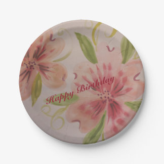 Small Designer Paper Plates In Pinks
