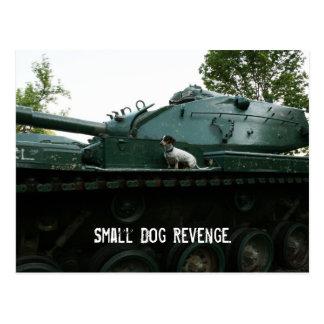 Small Dog Revenge. Postcard