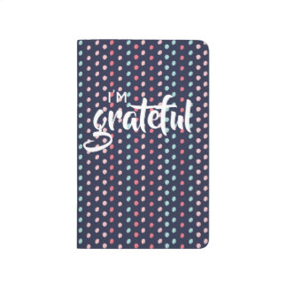 small dot pattern gratitude journal