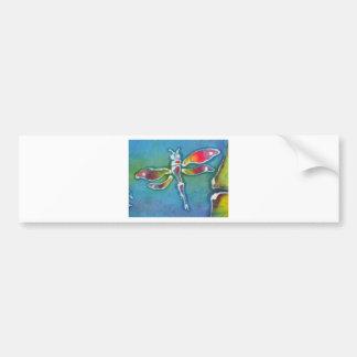 small dragonfly bumper sticker