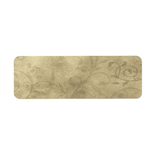 Small Elegant Papyrus Apothecary Label Return Address Label