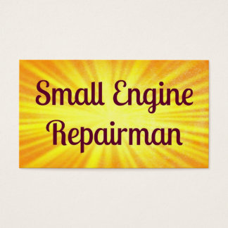 Small Engine Repairman Sunshine Business Card