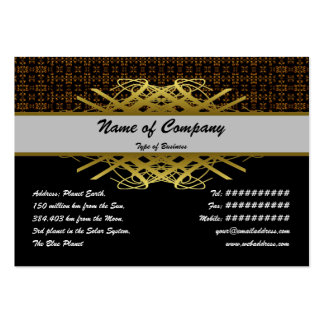 Small Fire Grid Large Business Cards (Pack Of 100)