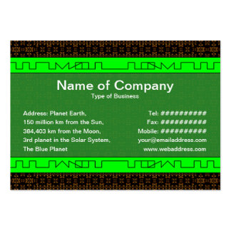 Small Fire Grid Large Business Card