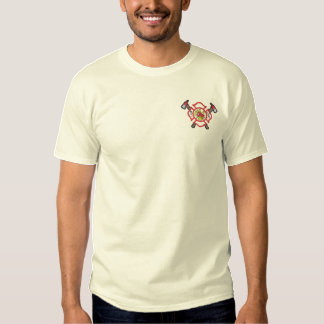 Small Fire Logo #2 Embroidered T-Shirt