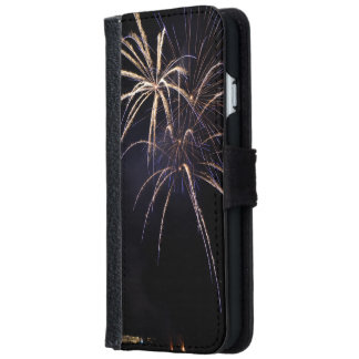 Small fireworks iPhone 6 wallet case