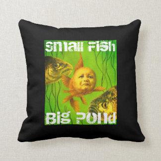 Small Fish Big Pond Baby Goldfish Throw Cushion