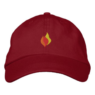 Small Flames Embroidered Hat
