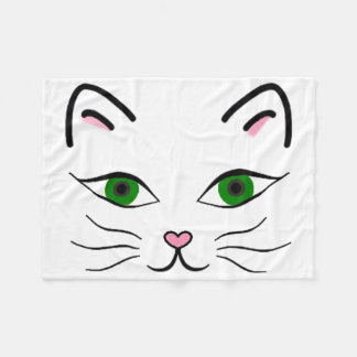 Small Fleece Blanket - Kitty Face
