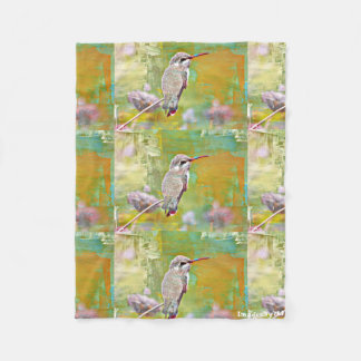 Small Fleece Blanket - Pastel Hummer