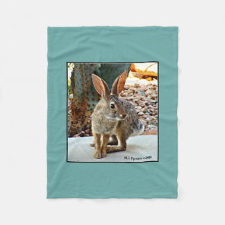 Small Fleece Blanket - Sonoran Bunny