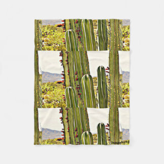 Small Fleece Blanket - Stove Pipe Cactus