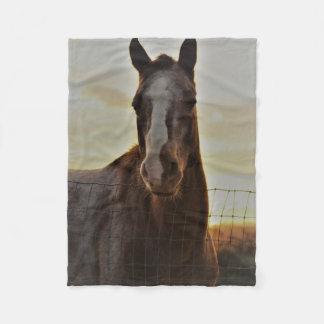 Small Fleece Horse Throw