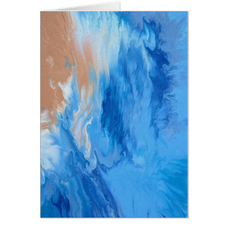 "Small Fluid Abstract Art Note Cards ""Dreamland"""
