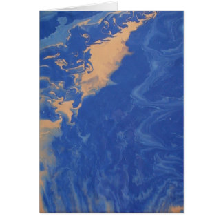 "Small Fluid Abstract Art Note Cards ""Meandering"""