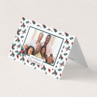 Small Folded Holiday Photo Card