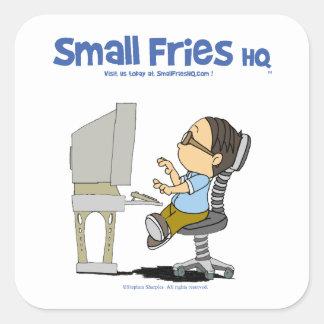 Small Fries HQ Edgar Sticker Sq
