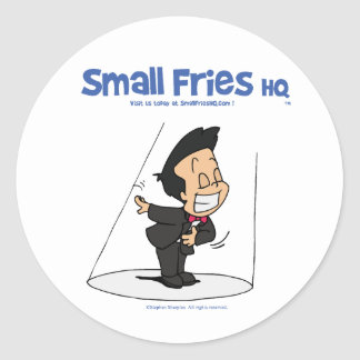 Small Fries HQ Oscar Sticker Round