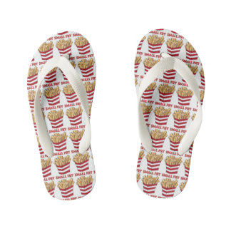 SMALL FRY Fast Food French Fries Kid Flip Flops