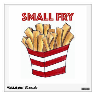 SMALL FRY Foodie French Fries Fast Food Wall Art Wall Sticker
