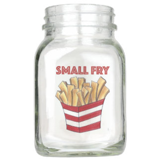 Small Fry French Fries Red Baby Shower Centerpiece Mason Jar