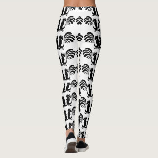 Small Funny Roosters Year 2017 Leggings