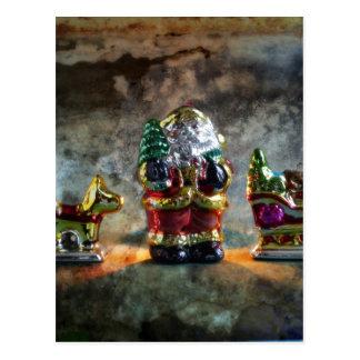 Small German Santa Claus figure Postcards