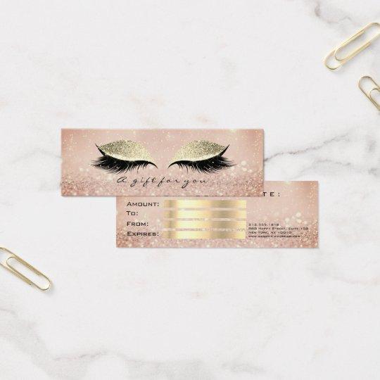 Small Gift Certificate Blush Glitter Lash Makeup