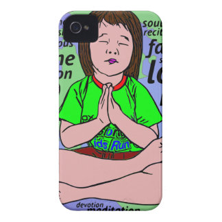 Small girl praying and meditating,sitting on earth Case-Mate iPhone 4 case