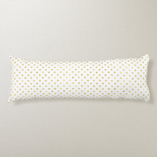 Small Gold Watercolor Polka Dot Pattern Body Pillow