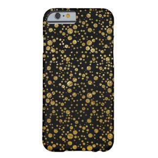 small golden dots on black barely there iPhone 6 case