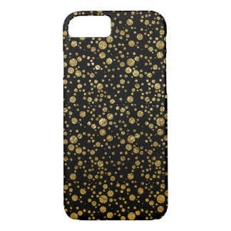small golden dots on black iPhone 7 case