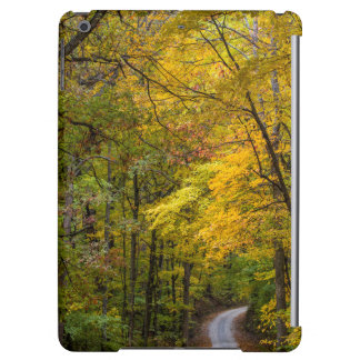 Small Gravel Road Lined With Autumn Color Cover For iPad Air