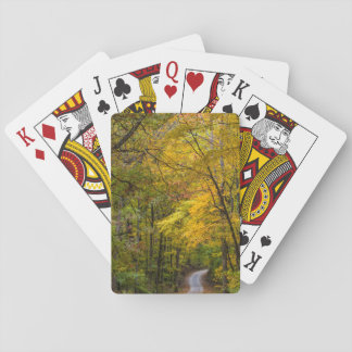 Small Gravel Road Lined With Autumn Color Poker Deck