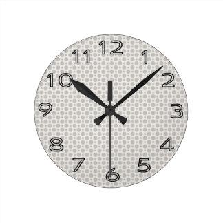 Small Gray Dots Round Clock