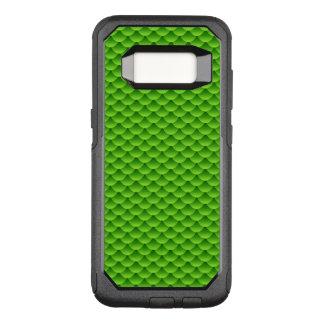 Small Green Fish Scale Pattern OtterBox Commuter Samsung Galaxy S8 Case