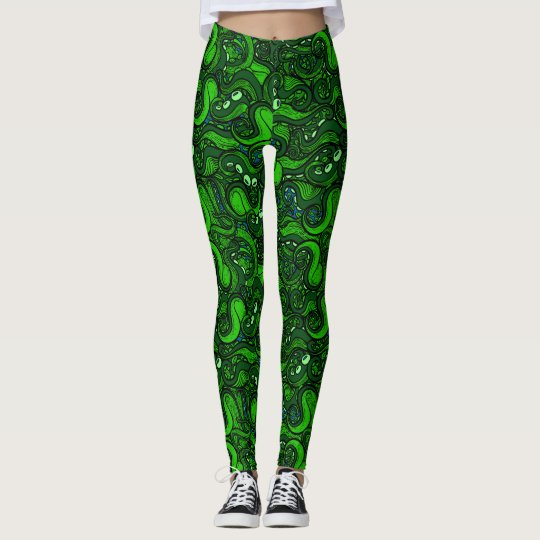Small Green Tentacles Leggings
