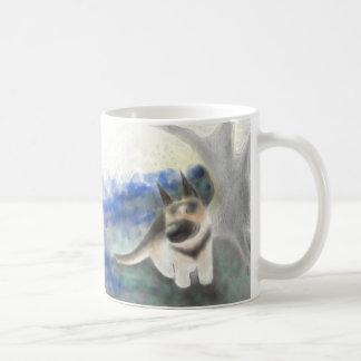 Small Grey Cat and German Shepherd Pup Mug